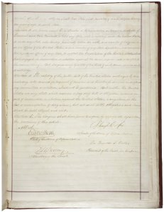 14th Amendment signature page